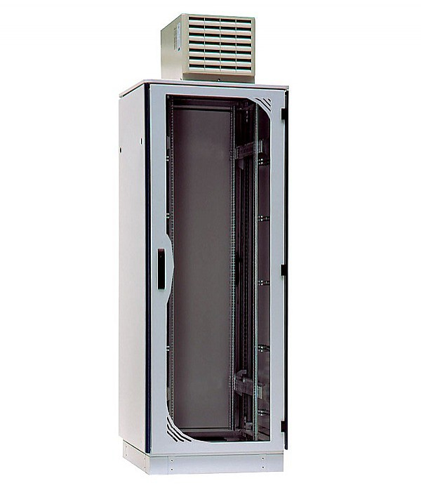 "Cabinet, 19"", 42U, 'TiRAX cool-roof', 2000x800x800 mm (height,width,depth), IP 54, w/air conditioning"