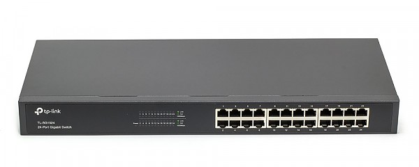 "Unmanaged switch, 24x 10/100/1000 RJ-45, 19"" (TP-Link TL-SG1024)"