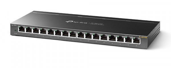 Unmanaged switch, 16x 10/100/1000 RJ-45, desktop (TP-Link TL-SG116E)