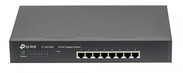 "Unmanaged switch,  8x 10/100/1000 RJ-45, 11.6"", 19"" Rack-mounting Bracket (TP-Link TL-SF1008)"