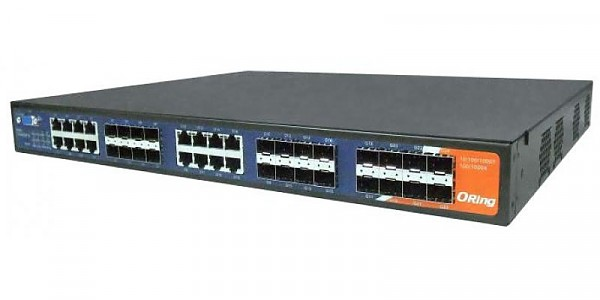 ORing RGS-9168GCP-EU, Industrial Managed switch, 16x 10/100/1000 COMBO Ports with SFP + 8 slide-in SFP slots, O/Open-Ring <30ms