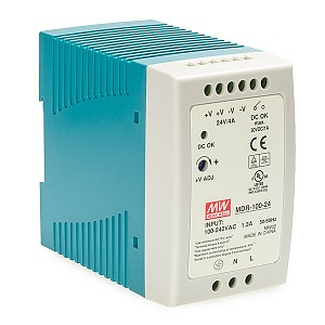 Power supply 96W 24VDC, mini, DIN TS35 (Mean Well MDR-100-24)