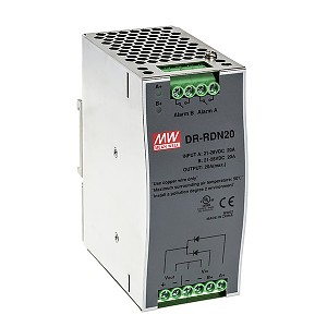 Power Supply Redundancy Module, 20A max, DIN TS35 (Mean Well DR-RDN20)