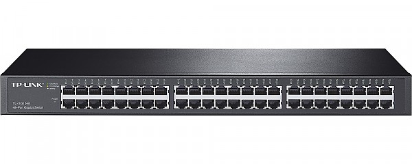 "Unmanaged switch, 48x 10/100/1000 RJ-45, 19"" (TP-Link TL-SF1048)"