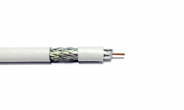 Coaxial cable Wave Cables RG6 Cu, white, 100 m