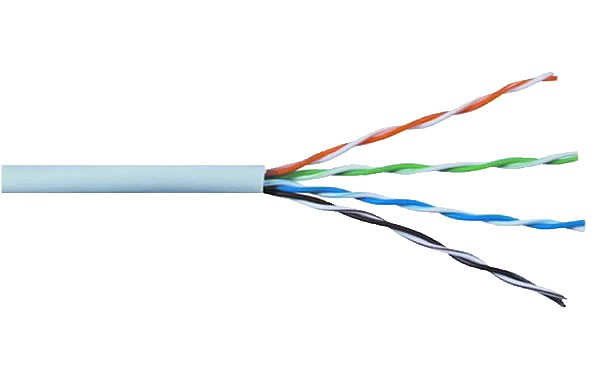UTP cat5e Network Cable, grey, solid copper wire 24AWG, 305m box
