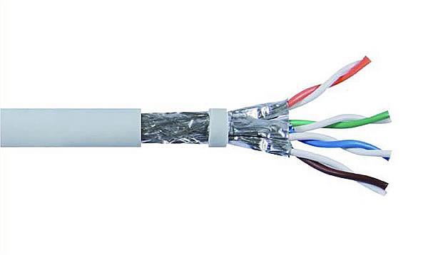 Cable S/FTP  Wave Cables, cat.6A, grey, 4x2x26 AWG, 305 m, stranded