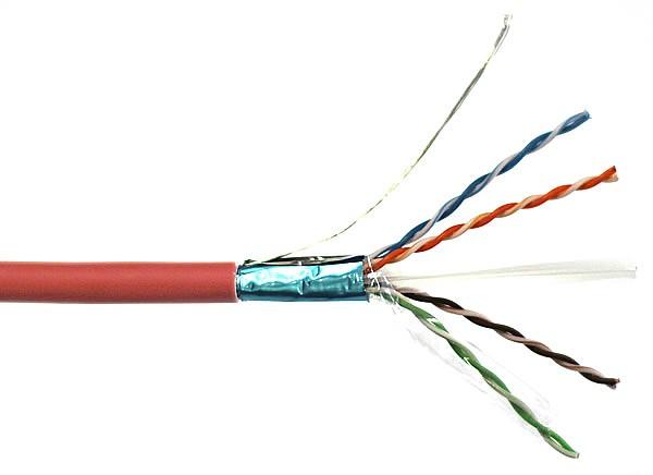 Cable F Utp Cat 6 Red Lsoh 4x2x26, Wiring Cat 6