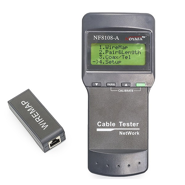 Noyafa NF-8108A Cable tester RJ-45, w/LCD and external terminator