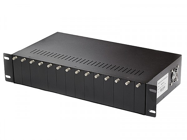 Media converter rack, 14 slots rack-mount chassis (Wave Optics WO-KR-14)