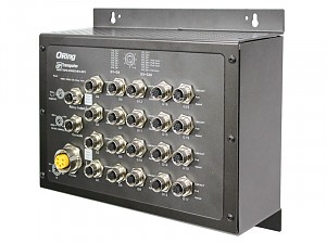 Managed switch, 16x 10/100/1000 M12 PoE, 4x 10/100/1000 M12, Bypass, O/Open-Ring <10ms (ORing TGPS-9164GT-M12-BP2)