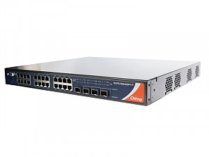 RGPS-9244GP+NP-P, Managed industrial switch, 24x 10/1000 RJ-45 PoE + 4 1G/10G SFP+ slots, O/Open-Ring <30ms