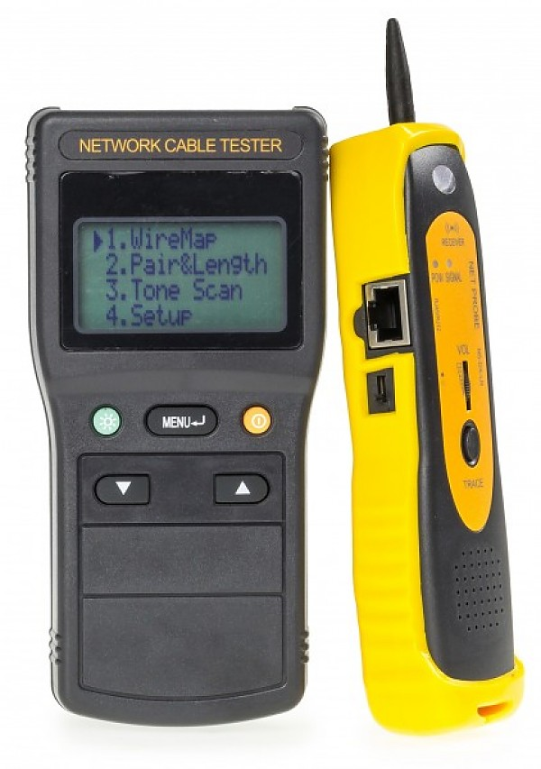 Cable tester RJ-45, w/LCD and scan detector (WT-4104)