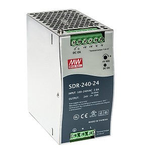 Power supply 240W 24VDC, DIN TS35, P.F.C. (Mean Well SDR-240-24)