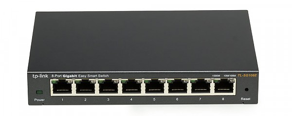 Smart switch,   8x 10/100/1000 RJ-45, desktop (TP-Link TL-SG108E)