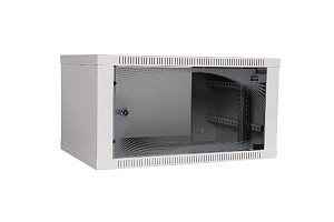 "Wall-mounted 19"" cabinet,  6U, EcoVARI, glass door, 320x600x400 mm"