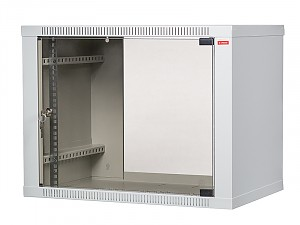 "Wall-mounted 19"" cabinet,  9U, EcoVARI, glass door, 460x600x600 mm"