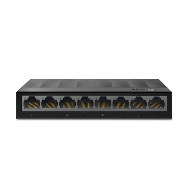 Unmanaged switch, 8x 10/100/1000 RJ-45, desktop (TP-Link LS1008G)