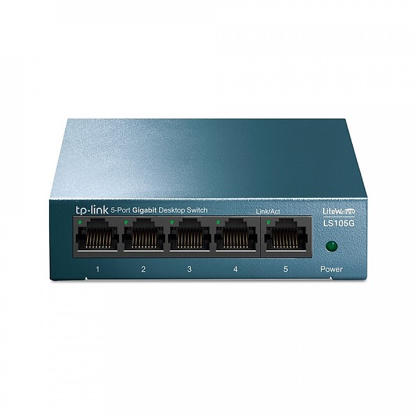 Unmanaged switch, 5x 10/100/1000 RJ-45, desktop (TP-Link LS105G)
