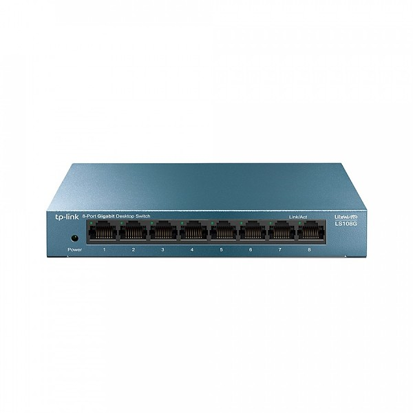 Unmanaged switch, 8x 10/100/1000 RJ-45, desktop (TP-Link LS108G)