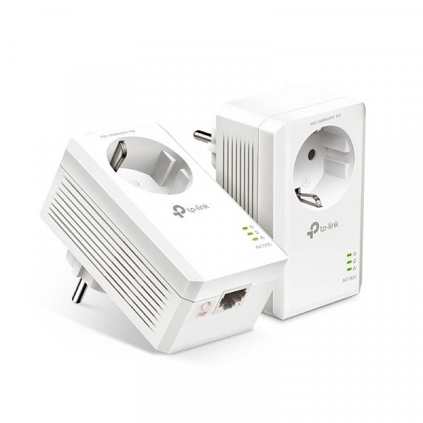 1000Mbps AV1000 WiFi #08947 - Passthrough Powerline Starter Kit (TP-Link TL-PA7017P KIT)