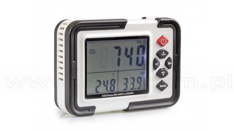 Humidity, temperature, carbon dioxide data logger