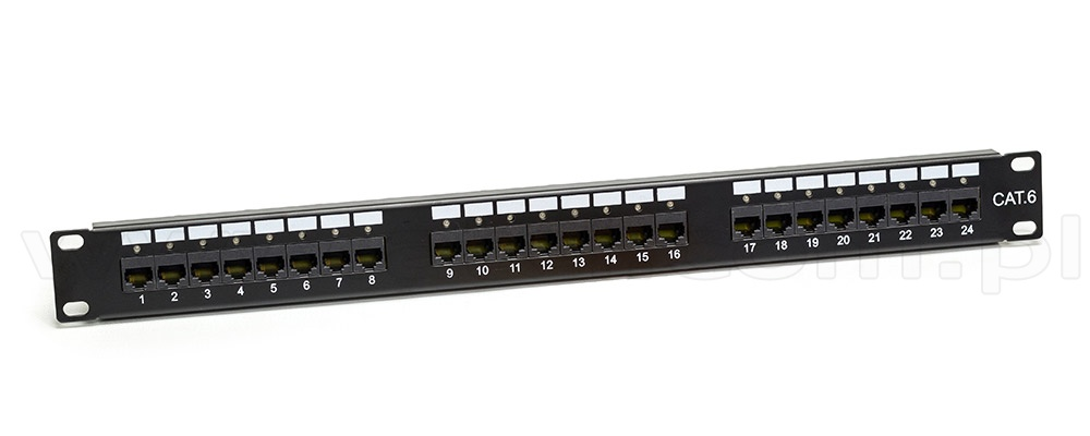 16 Port Cat6 Patch Panel UTP Electronics Computer Networking