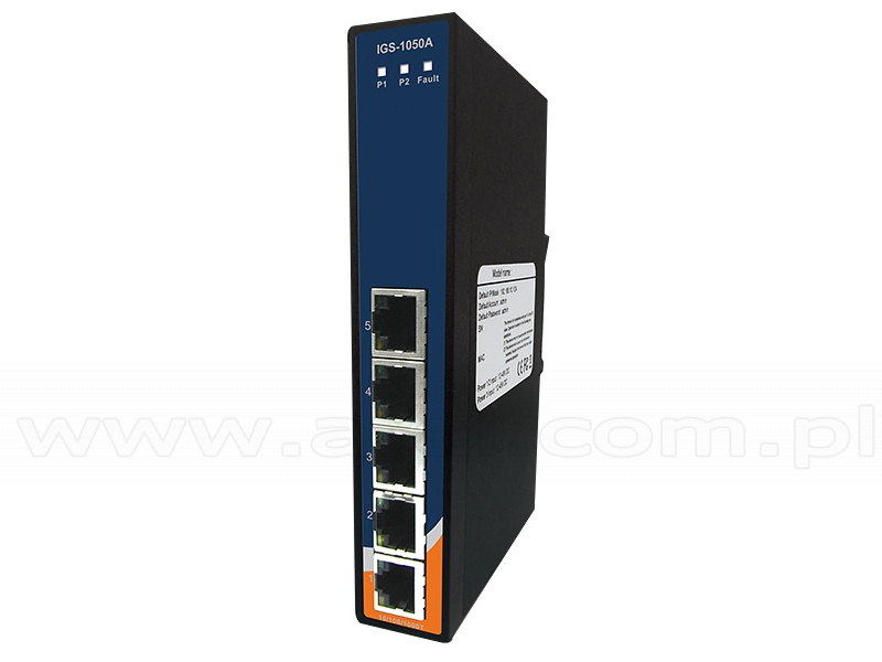 1x SFP Slot + 4x RJ45 Ports 5-Port Unmanaged Gigabit Ethernet Switch