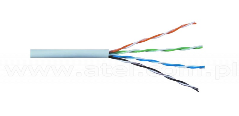 Twisted Pair Cables » UTP cat5e Network Cable, grey, solid copper ...