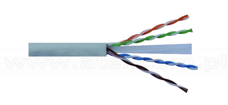 Cable U/UTP Wave Cables, cat.6, grey, 4x2x24 AWG, 305 m, stranded