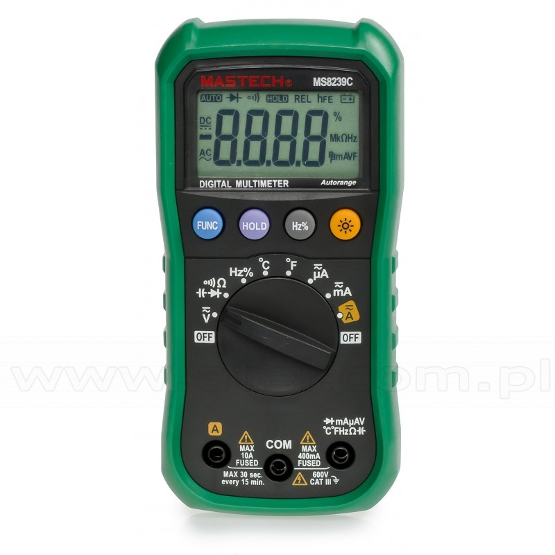 Mastech MS8239C - Digital Multimeter with capacitance, frequency and  temperature measurement