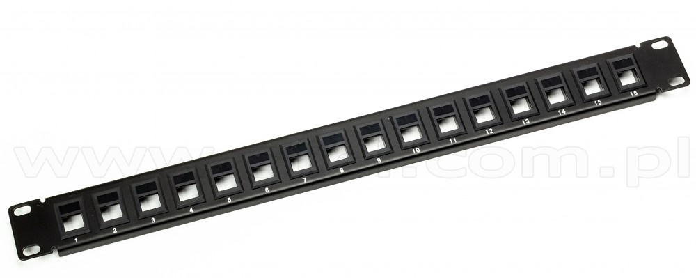 ACL 1 Unit Rackmount 16 Port Blank Keystone Patch Panel 1 Pack