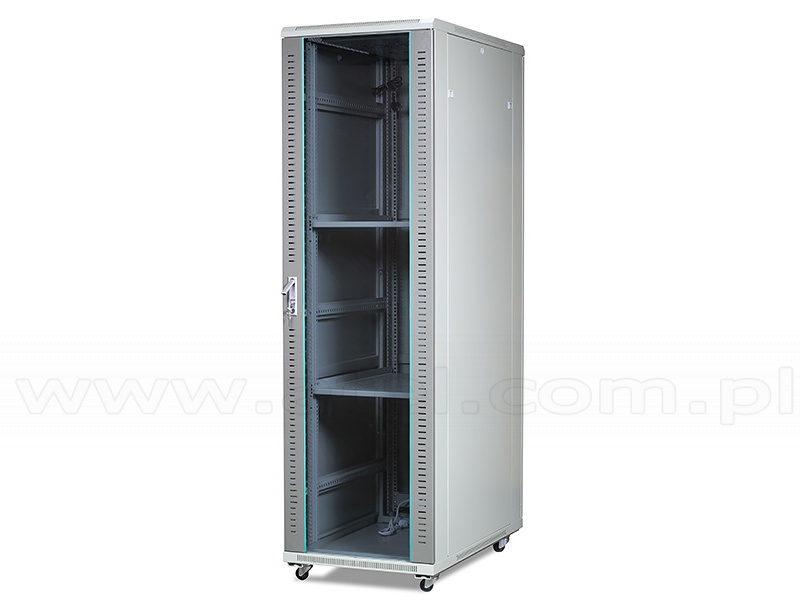 19 Server Rack Cabinet 42u Floor Standing Glass Door