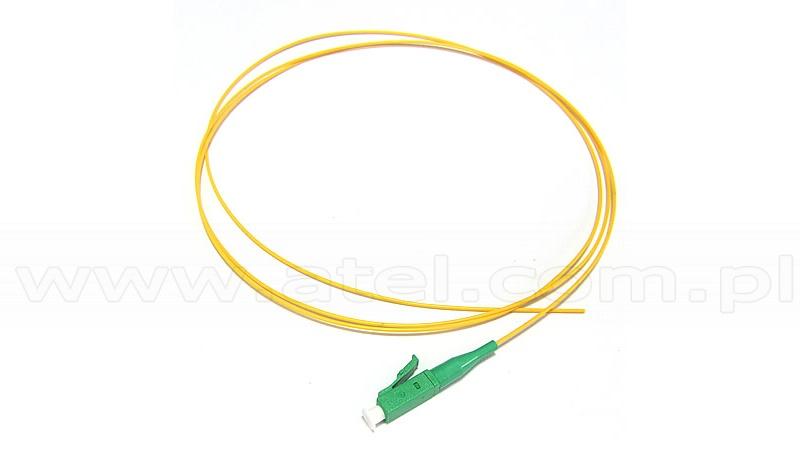 Fiber optic pigtail LC APC, SM, 9/125, 0.9mm, G652D fiber, 1m