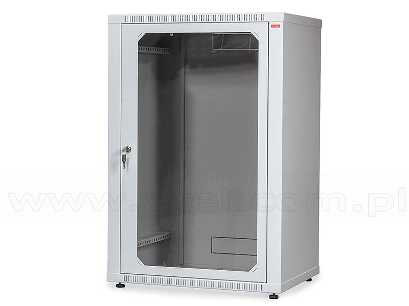 18u Cabinet 19 Wall Mounted Ecovari Glass Door 880x600x450mm