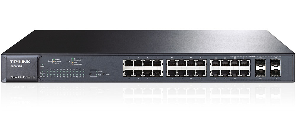 TP-Link T2600G-28TS JetStream 24-Port Gigabit L2 Managed Switch with 4 SFP Slots