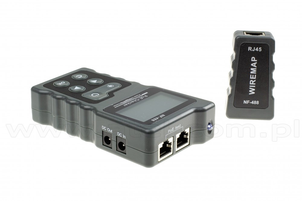 Cable Tester Rj 45 Lcd With Poe 802 3af 802 3at Indication Noyafa Nf 488