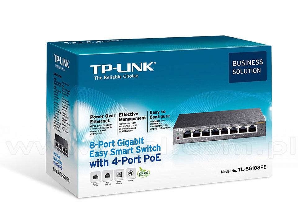 Tp Link Tl Sg108pe Smart Switch 8x 10 100 1000 Rj 45