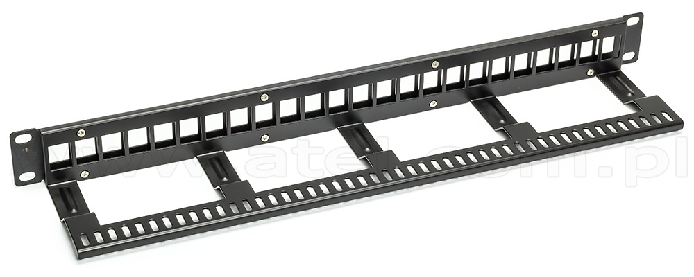 Patch panel, 24-port, keystone, 1U, 19