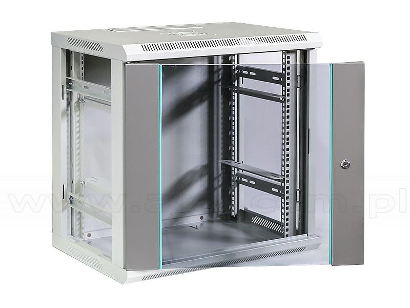 12u Rack Cabinet 19 Quot Wall Mounted Glass Door 600x600x450mm